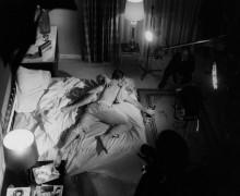 Шон Коннери и Ширли Итон во время съемок