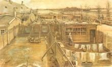 Мастерская плотника, вид из студии художника - Гог, Винсент ван