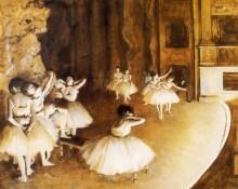 Репетиция балета на сцене, 1874 - Дега, Эдгар