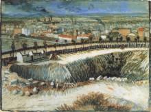 Фабрики, окраина Парижа, недалеко от Монмартра (Factories, Outskirts of Paris, near Montmartre), 1887 - Гог, Винсент ван