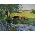 Коровы в тени ивы (Cows in the Willow`s Shade) - Монтезен, Пьер-Эжен