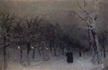 Бульвар зимой (Бульвар вечером). 1883 - Левитан, Исаак Ильич