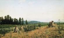 Сжатое поле. Полесский пейзаж, 1884 - Шишкин, Иван Иванович