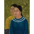 Две женщины (Сальвадора и Эрминия) - Кало, Фрида