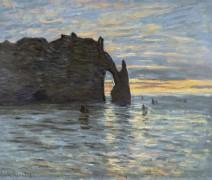 Закат солнца в Этрета - Моне, Клод