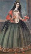 Женщина, держащая розы - Каджарская династия