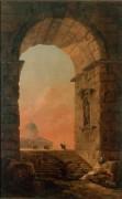 Пейзаж с арки и купола Святого Петра в Риме -  Робер, Юбер