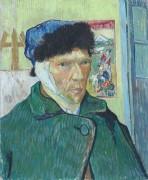 Автопортрет с перевязанным ухом (Self Portrait with Bandaged Ear), 1889 - Гог, Винсент ван