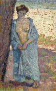 Молодая женщина в голубом пеньюаре (Young Woman in Blue Peignoir), 1905 - Рейссельберге, Тео ван