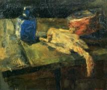 Синяя бутылка, курица и цыпленок, 1880 - Энсор, Джеймс