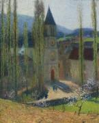 Церковь в Лабасти-дю-Вер, вечер - Мартин, Анри Жан Гийом Мартин