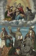 Мадонна с Младенцем со святым Бернардом и другими святыми - Моретто да Брешиа