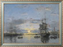Гавр, Авант порт, закат, 1882 - Будэн, Эжен