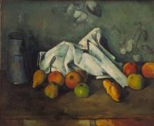 Бидон и яблоки - Сезанн, Поль