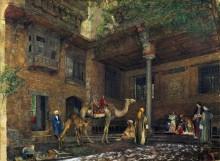 Двор дома художника в Каире - Льюис, Джон Фредерик
