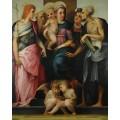 Мадонна с Младенцем в окружении святых и ангелов - Россо Фьорентино