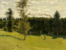 Поезд в деревне, 1870 - Моне, Клод
