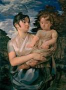 Полина Рунге с двухлетним сыном - Рунге, Филипп Отто