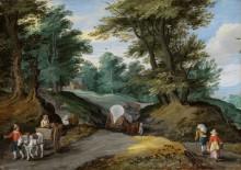 Лесной пейзаж с крестьянами - Брейгель, Ян (младший)