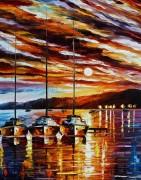 Закат над морским заливом - Афремов, Леонид (20 век)