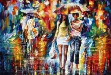 На шоппинг под дождем - Афремов, Леонид (20 век)