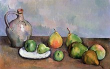 Натюрморт с кувшином и фруктами - Сезанн, Поль