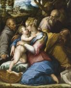 Святое Семейство и святой Франциск на фоне пейзажа - Вазари, Джорджо