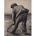 Землекоп на картофельном поле (Digger in a Potato Field - February), 1885 - Гог, Винсент ван