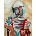 Сидящий человек, автопортрет, 1965 - Пикассо, Пабло