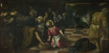 Христос омывает ноги своим ученикам - Тинторетто (Якопо Робусти)
