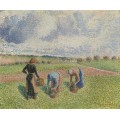 Сбор лекарственных трав, Эраньи, 1886 - Писсарро, Камиль