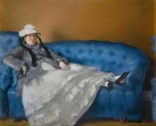 Мадам Мане на голубой софе - Мане, Эдуард