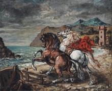 Лошади на берегу моря - Кирико, Джорджо де