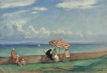 Зонтик на террасе Морго, 1924 - Лебаск, Анри