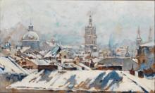 Крыши домов в снегу - Кусмидрович, Ян