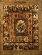 Богородица в славе с акафистом