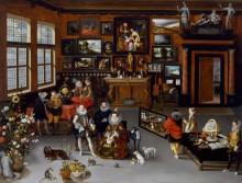 Визит эрцгерцогов Альбрехта и Изабеллы в кабинет коллекционера - Брейгель, Ян (Старший)