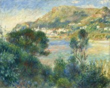 Пейзаж с видом на Монте-Карло - Ренуар, Пьер Огюст