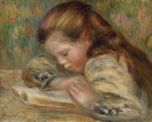 Читающая девочка - Ренуар, Пьер Огюст