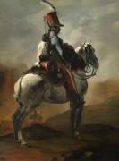 Гусарский трубач верхом на коне - Жерико, Теодор Жан Луи Андре