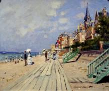 Пляж в Трувиле, 1870 - Моне, Клод