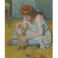 Девочка играет скуклой -  Зандоменеги,  Федерико