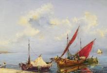 Красное парусное судно -  Лапшин, Георгий Александрович