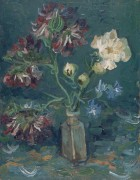 Маленькая бутылка с пионами и синим дельфиниумом (Small Bottle with Peonies and Blue Delphiniums), 1886 - Гог, Винсент ван