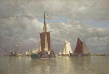 Корабли,  вблизи Дордрехта -  Клейс, Поль-Жан