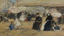 Трувиль, няня, 1885 - Буден, Эжен