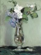 Натюрморт с примулами в стеклянной вазе, 1903 - Фергюссон, Джон Дункан