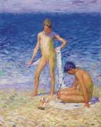 Мальчики на пляже Бель-Иль -  Рассел, Джон Питер