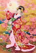 Гейша с цветами