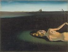 Спящая женщина на фоне пейзажа - Дали, Сальвадор